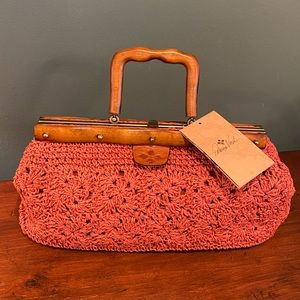 Patricia Nash Spring Wicker Colimena bag NWT